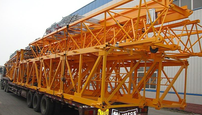 Hammerhead Tower Crane Mast Section fixing packing