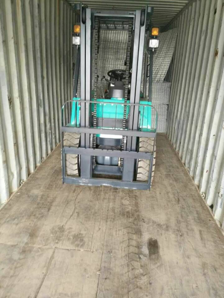 welded mesh and forklift