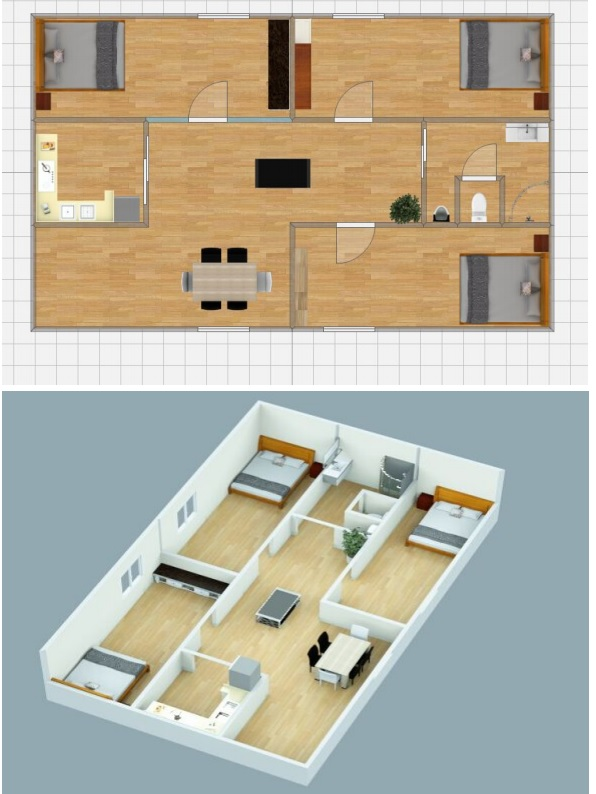 Container House Inner Design