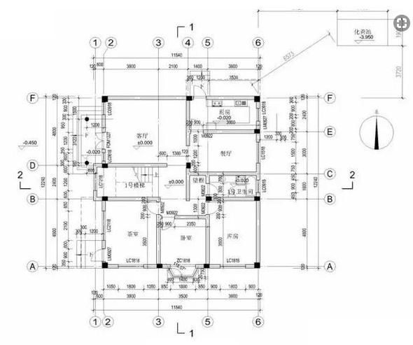 ICF block house drawing