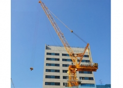 High efficiency luffing jib tower cranes