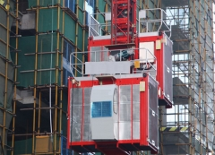 Electric two cages construction Material hoist